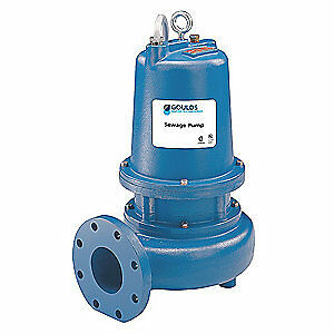 GOULDS WATER TECHNOLOGY Submersible Sewage Pump,3HP,230V,46 ft., WS3012D4