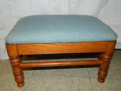 vintage Tell City Chair Co. Padded Foot Stool ottoman footstool