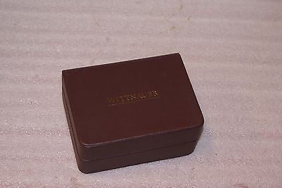 Wittnauer Watch Box 5 1/2in x 4 1/4in x 2 1/2in Burgandy