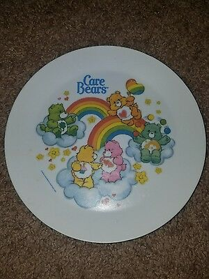 VINTAGE CARE BEARS PLASTIC PLATE BY DEKA 1980's