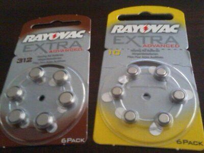 Hearing Aid Batteries Hearing aids assistance  Rayovac size 10 /13 /312 / P675