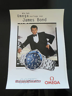 Omega James Bond 007 Tomorrow Never Dies 1997 Seamaster Watch Dutch Poster