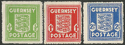 Guernsey 1941-44 SG1-3 war occupation issue set, unmounted mint.