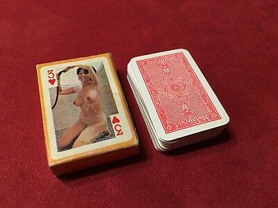 1965 Complete Set Nude Miniature Playing 54 Cards Hong Kong Mostly Asian Women