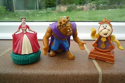 Beauty and The Beast Plastic Figures Lovely Cake Toppers