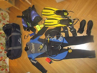 Set of Diving Gear In Working condition.