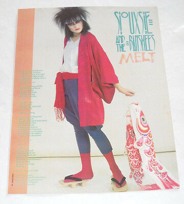 Vintage SIOUXSIE & THE BANSHEES: 'MELT' Songwords Poster 1982