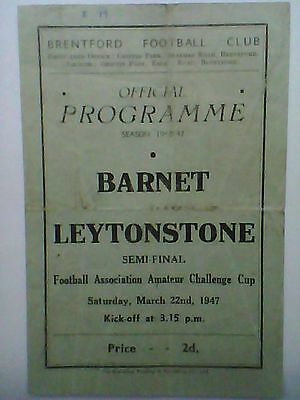 BARNET v LEYTONSTONE, 1947 F.A. Amateur Cup Semi-Final at Brentford F.C.