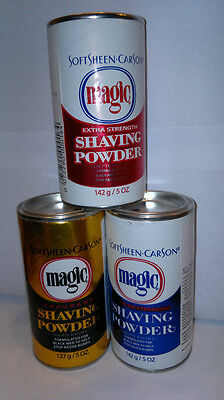 Soft Sheen.Carson  Magic Shaving Powder     Red /Gold & Blue