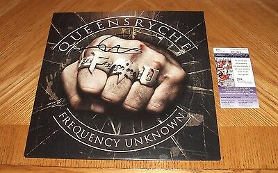 GEOFF TATE Signed - QUEENSRYCHE Frequency Unknown Vinyl Record JSA Certified!