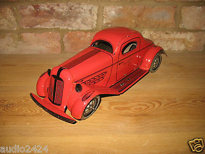 SUPERB BIG MYSTERY CAR TINPLATE WIND-UP 1930s gangster style TIN TOY wolverine ?