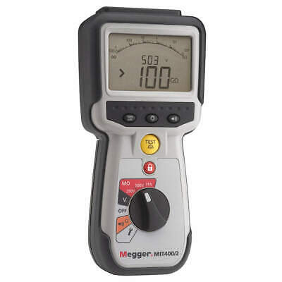 MEGGER Battery Operated Megohmmeter,1000VDC, MIT400/2