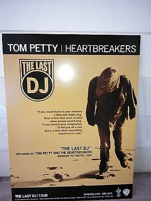 """2002 TOM  PETTY and The Heartbreakers """"THE LAST DJ"""" Pro-Mo Poster  NOT FOR SALE"""