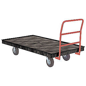 RUBBERMAID Fifth-Wheel-Steer Trailers,1000 lb., FG9T1200BLA, Black