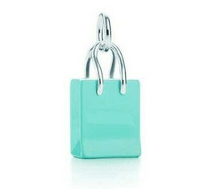 Tiffany Blue Shopping Bag Lobster Clasp Silver Plated Dangle Charm