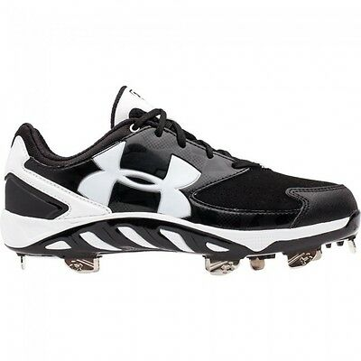 Under Armour Women's Fastpitch Spikes Spine Glyde ST Black/White Size 7.5 Sale