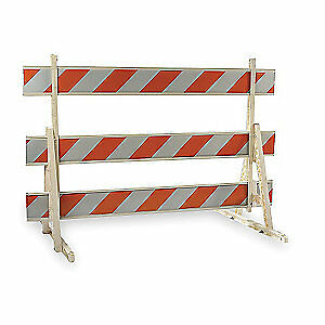 Polypropylene Type 3 Barricade,Orange/White,60 In. H, 97-1400-82-H, Orange/White
