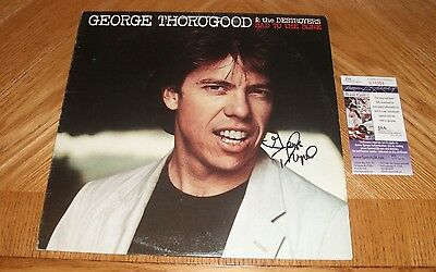 GEORGE THOROGOOD - Bad To The Bone Vinyl LP Record *Autographed* JSA Certified