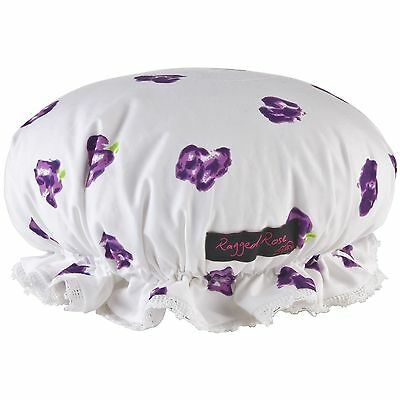 Ragged Rose Floral Shower Hat Purple Petal