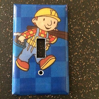 Bob the Builder Switch Plate Cover Wall Decor Child's Room Bedroom Decor