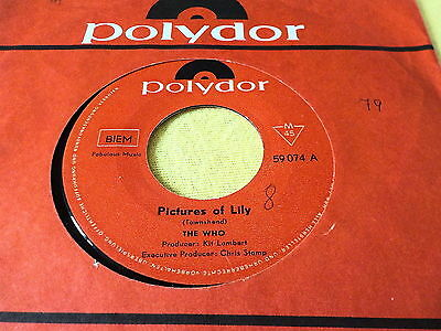 "7"" *60'*  THE WHO - Pictures Of Lily *rare Austria FLC"