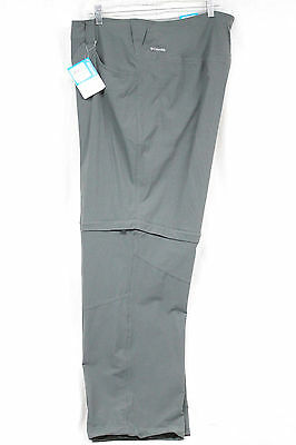 NWT COLUMBIA Saturday Trail Wo's 24W Gray Convertible Stretch Omni Shield Pants