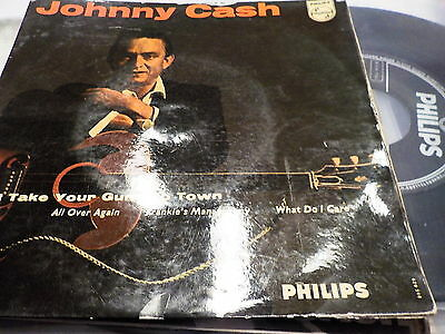 """7""""EP - *Country* JOHNNY CASH - Don't Take Yiur Guns To Town *rare German only EP"""