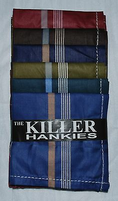 100% Cotton Handkerchiefs Hankies Hankys Mens 42Cm Square Dark Colours Lot