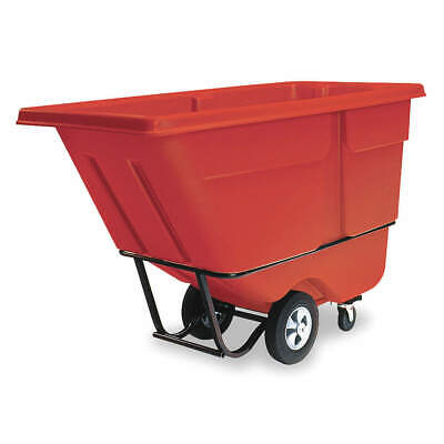 RUBBERMAID Tilt Truck,Standard,1/2 cu. yd.,Red, FG130500RED