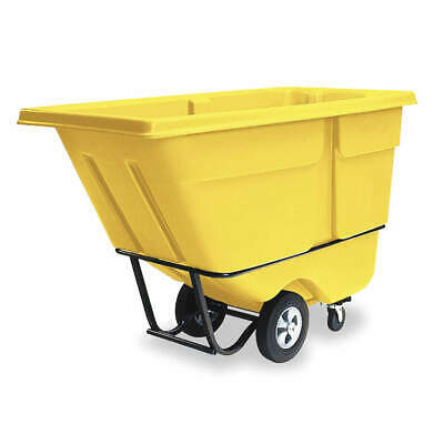 RUBBERMAID Tilt Truck,Standard,1/2 cu. yd.,Yellow, FG130500YEL