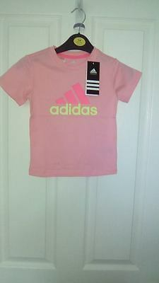 Bnwt Infants Girls Pink Adidas T Shirt Super Cute