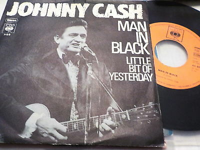"""7"""" - *Country* JOHNNY CASH - Man In Black *rare Germany"""