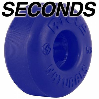 RICTA NATURALS Skateboard Wheels, Blue, 52mm - SECONDS (minor cosmetic defects)