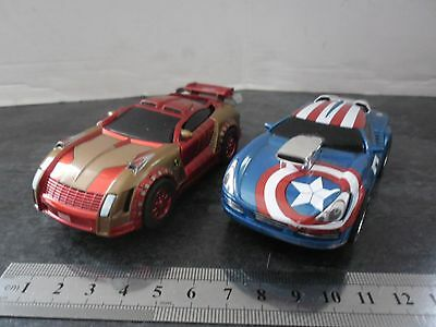 CARRERA GO 1:43 SCALE 6 volt MARVEL AVENGERS CAPTAIN AMERICA/IRON MAN RACERS