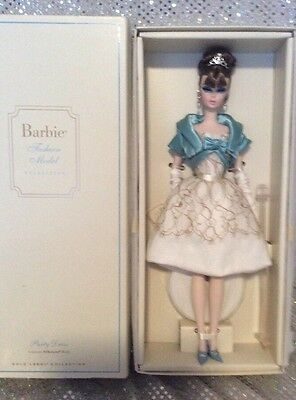 Party Dress Silkstone Barbie Doll 2011 Gold Label Mattel W3425 Mint Nrfb