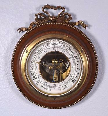 Vintage French Louis XVI Bronze  and Mahogany Barometer