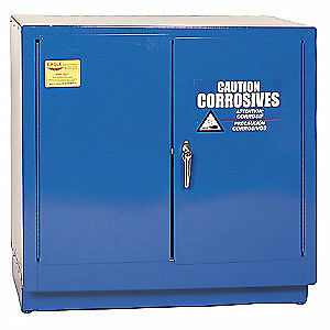EAGLE Galvanized Steel Corrosive Safety Cabinet,Manual,22 gal., CRA-71, Blue