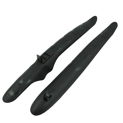 Bicycle Bike Cycling Front Rear Mud Guards Mudguard Fenders Set Black L2J2