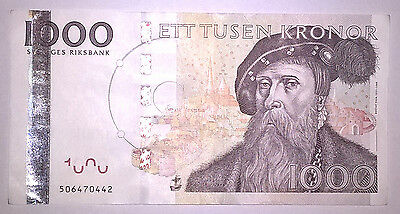SWEDEN: 1000 Kronor banknote since 2006 in AUNC Condition SEK. Number: 506470442