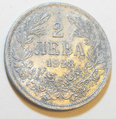 BULGARIA (Kingdom of): 2 Leva Alluminium coin since 1923 in XF Condition.