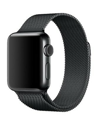 Genuine Apple Milanese Loop 42mm Space Black