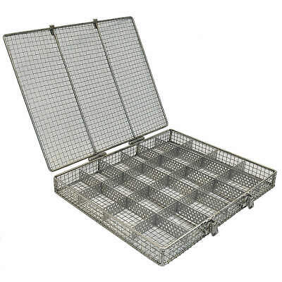 M Stainless Steel Mesh Bskt w/Lid,20-1/4in L x 17-3/16in W, 02035003-38, Natural