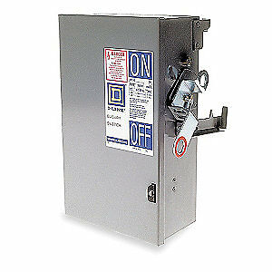 SQUARE D Floor Op Disconn,30A,240V,3P3Ph,3G W,PQ, PQ3203G