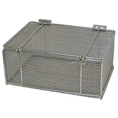 MARLIN Stainless Steel Mesh Bskt w/Lid,14inLx10inWx6inH, 00-00304002-31, Natural