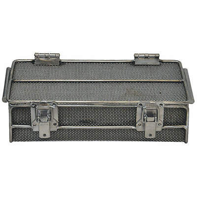 Stainless Steel Mesh Bskt w/Lid,11inLx6-1/2inWx2-3/4inH, 00-01062001-38, Natural