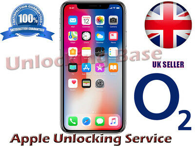 Super Fast O2 / Tesco Uk Factory Unlock Service  For  Iphone  X  8 / 8 Plus