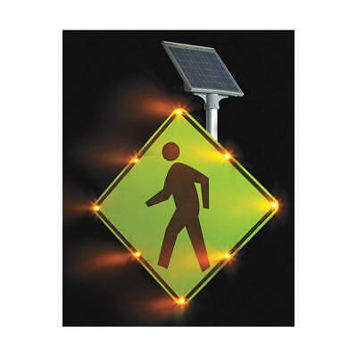 TAPCO LED Traffic Sign,Pedestrian Crossing, 2180-00214