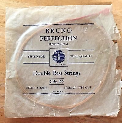 One Vintage Bruno Perfection Double Bass C String, Italian Type Gut
