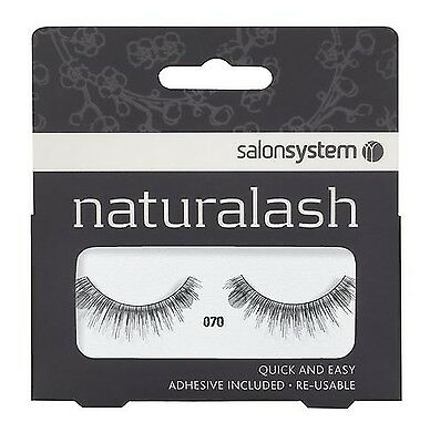 Salon System Naturalash Quick and Easy Re-Usable Black 070 Lashes