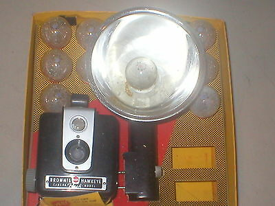 Vintage Kodak Brownie Hawkeye Camera Outfit c1950-61